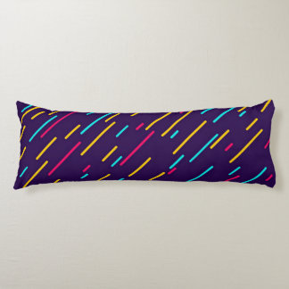 Colorful diagonal stripes body pillow