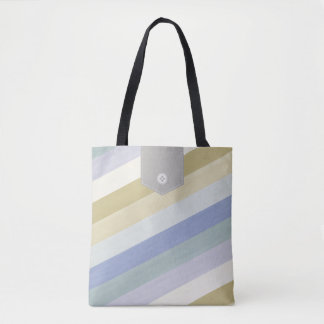 Colorful Diagonal Stripes Tote Bags