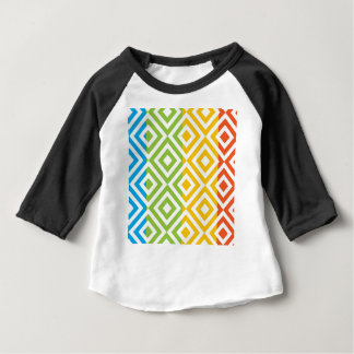 Colorful Diamond Pattern Baby T-Shirt