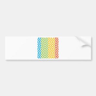 Colorful Diamond Pattern Bumper Sticker