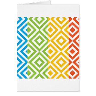 Colorful Diamond Pattern Card