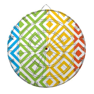 Colorful Diamond Pattern Dartboard