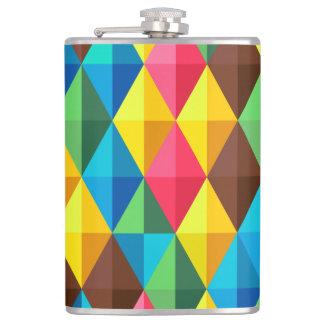 Colorful Diamond Pattern Flasks