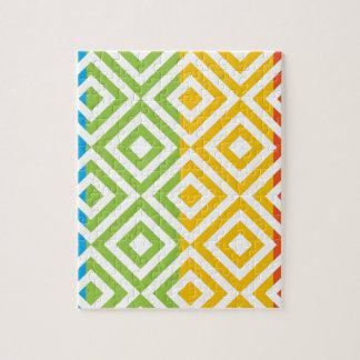Colorful Diamond Pattern Jigsaw Puzzle