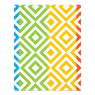 Colorful Diamond Pattern Letterhead