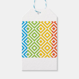 Colorful Diamond Pattern Pack Of Gift Tags