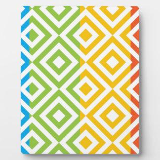 Colorful Diamond Pattern Plaque