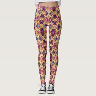 Colorful Diamond Print Leggings