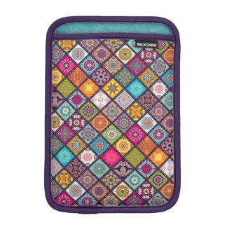 Colorful diamond tiled mandalas floral pattern sleeve for iPad mini