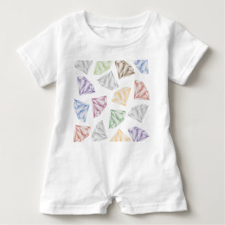 Colorful Diamonds for my sweetheart Baby Romper