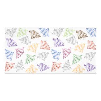 Colorful Diamonds for my sweetheart Custom Photo Card