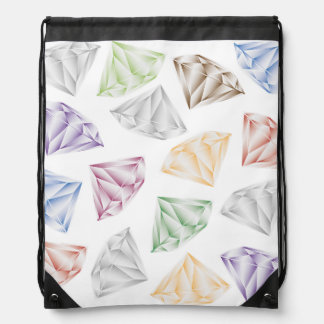 Colorful Diamonds for my sweetheart Drawstring Bag