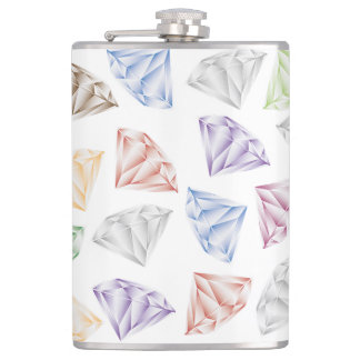 Colorful Diamonds for my sweetheart Flask