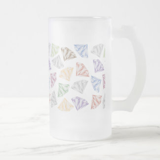 Colorful Diamonds for my sweetheart Frosted Glass Beer Mug