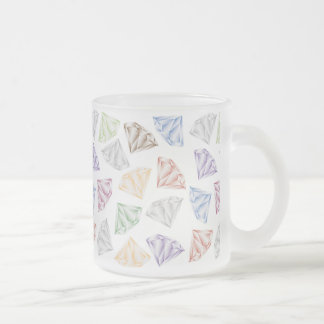 Colorful Diamonds for my sweetheart Frosted Glass Coffee Mug