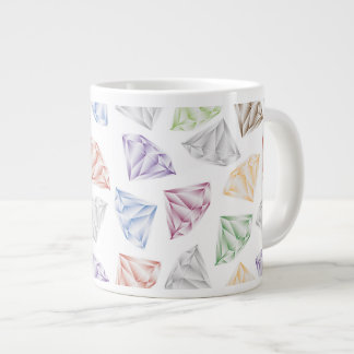 Colorful Diamonds for my sweetheart Giant Coffee Mug