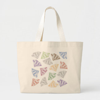 Colorful Diamonds for my sweetheart Large Tote Bag