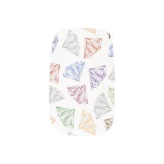 Colorful Diamonds for my sweetheart Minx Nail Art