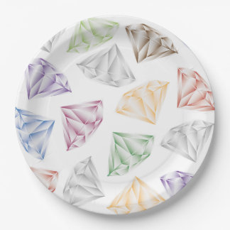 Colorful Diamonds for my sweetheart Paper Plate
