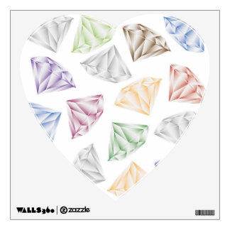 Colorful Diamonds for my sweetheart Wall Decal