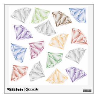 Colorful Diamonds for my sweetheart Wall Sticker