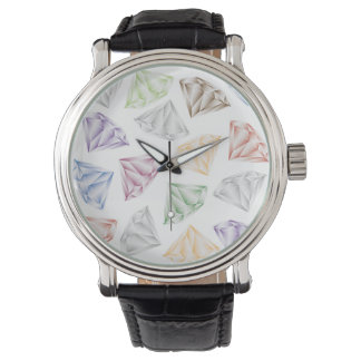 Colorful Diamonds for my sweetheart Wrist Watch