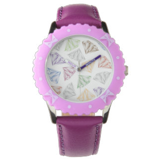 Colorful Diamonds for my sweetheart Wrist Watch