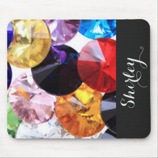 Colorful Diamonds Typography Mouse Pad