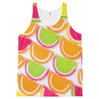 Colorful Different Jelly Candy All-Over-Print Tank Top
