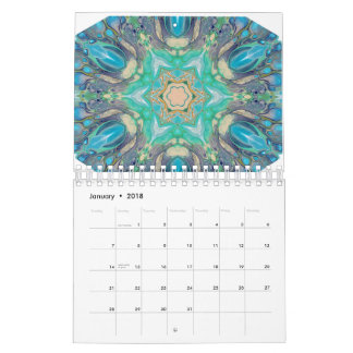 Colorful Digital Abstract Art Calendar