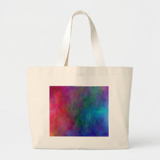 Colorful digital abstract jumbo tote bag