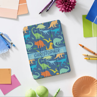 Colorful Dinosaurs Design to Personalize iPad Pro Cover
