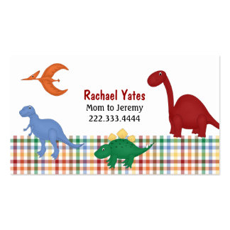 Colorful Dinosaurs Mommy Card Business Card