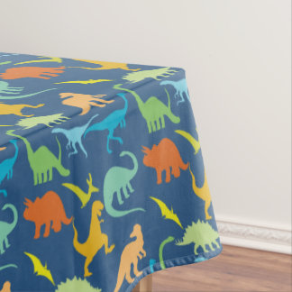Colorful Dinosaurs Tablecloth