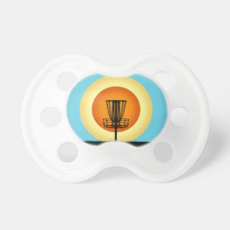 Colorful Disc Golf Basket Baby Pacifiers