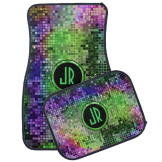 Colorful Disco Ball Glitter Pattern Car Mat