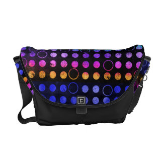 Colorful Distressed Dots Messenger Bag