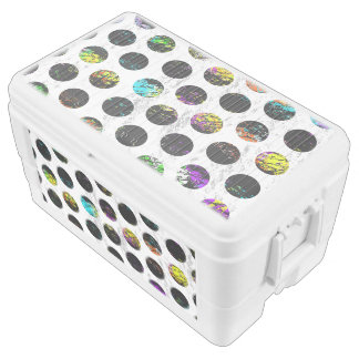 Colorful Distressed Polkadots Ice Chest