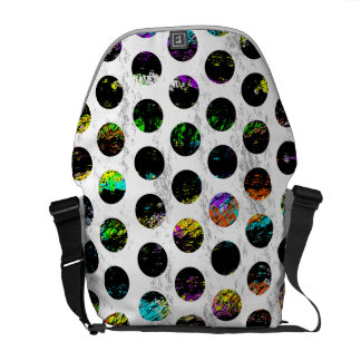 Colorful Distressed Polkadots Messenger Bags