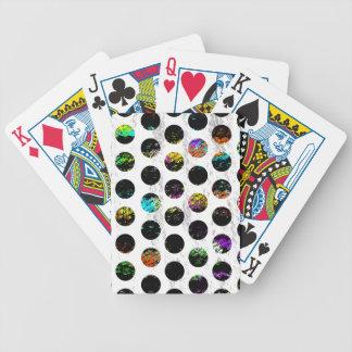 Colorful Distressed Polkadots Poker Deck