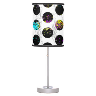 Colorful Distressed Polkadots Table Lamp