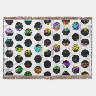 Colorful Distressed Polkadots Throw Blanket
