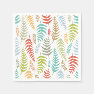 Colorful Ditsy  Floral Background   Napkin Disposable Napkins