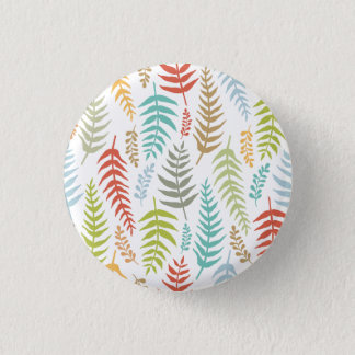 Colorful Ditsy  Floral Background Pin Button