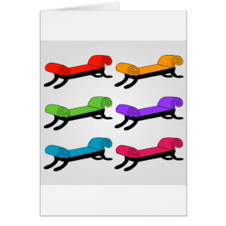 Colorful divans card