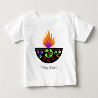 Colorful Diwali Lamp Diya Baby T-Shirt