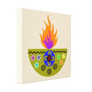 Colorful Diwali Lamp Diya Canvas Print