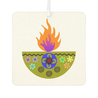 Colorful Diwali Lamp Diya Car Air Freshener