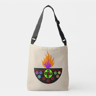 Colorful Diwali Lamp Diya Crossbody Bag