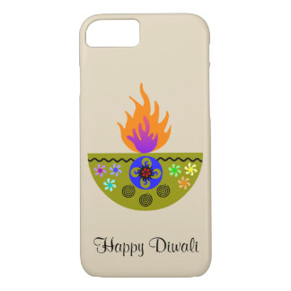 Colorful Diwali Lamp Diya iPhone 8/7 Case